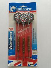 Vintage Unicorn Prizewinner English Darts with Pouch Steel Tips Tungsten Brass