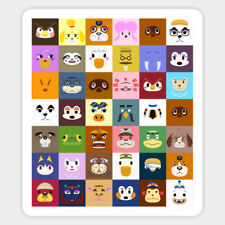 Animal Crossing Collage of Characters Vinyl Decal Sticker Laptop Car Bumper