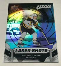 Evgeni Malkin MVP Lazer Shots Insert Parallel Hockey Card S3 Penguins Script