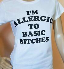 Alérgico al básico perras perra Camiseta básica Diva Camisa blanca mujer Tallas S-2XL