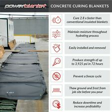 Concrete Curing - Powerblanket MD0320 Concrete Curing Electric Blanket, 3' x 20'
