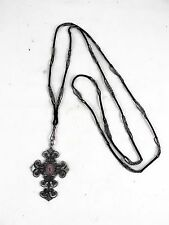 RARE BERLIN IRON WORK CROSS WITH FRENCH SEAL INTAGLIO WITH POLISHED STEEL