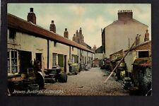 Cullercoats, Browns Buildings - near Tynemouth - colour printed postcard