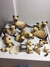 Hagen Renaker Vtg Miniature Siamese Cats & Kitten & Milk Bucket Huge Lot