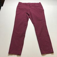 Old Navy Pink Plaid Pixie Ankle Pants Size 14 Tall A852