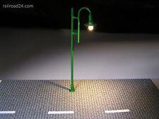 LED strassenlaterne nostalgia VERDE 80 mm traccia h0/tt