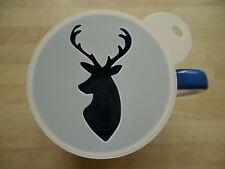 100mm stag head design craft stencil and coffee stencil