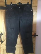 H&M High Waisted Slim Womens Jeans, Size Uk20, Black, New
