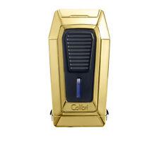 Colibri Quantum Triple Jet Flame Gold & Black Cigar Lighter With V-Cut Cutter
