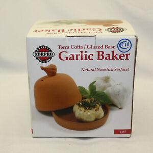 Norpro Terra Cotta Garlic Roaster New in Box