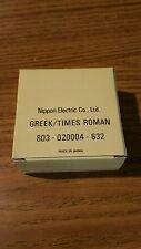 NOS genuine Nec print thimble for NEC impact printers. Font Greek/Times Roman