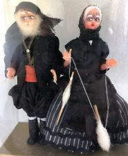 Vintage Dollhouse Miniature Dolls Old Woman Man Witch Gypsy Pirate 1:12