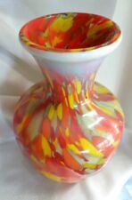 Fenton Art Glass Limited Myriad Mist Vase Dave Fetty New in Box Multi Colored