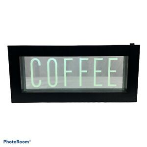 """Coffee Led LightUp Sign Home Decor Wall Hanging Coffee Bar 11x5"""" Plaque Plastic"""