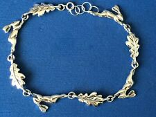 More details for hare  and oak leaves bracelet sterling silver silver .925.. quality