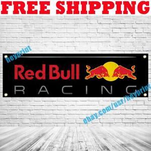 Aston Martin Red Bull Racing Banner Flag 18x59 Car Show Garage Wall Decor Sign