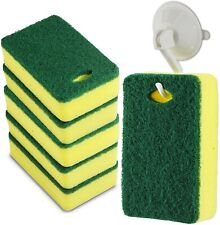 Scrub Cleaning Supplies – Kitchen Dish Sponge with Hook Holder