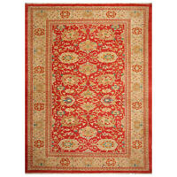 "10'4"" x 13'7"" Authentic Hand Knotted Oushaak Wool Oriental Area Rug Orangy Red"