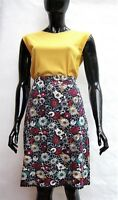 MARKS & SPENCER FLORAL MULTI COLOUR STRETCH MACRAME TRIM SKIRT 10 to 24
