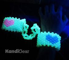 glow in the dark kandi handcuffs, Rave gear, cuff, EDC, PLUR, Ultra Music