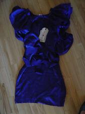 Lanvin Abito h&m 100% seta abito seta silk Blu Reale 40 42 US 10 UK 12 14 16