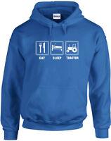 Eat Sleep Tractor Printed Hoodie Soft Jumper Premium Quality Hoody Sweatshirt