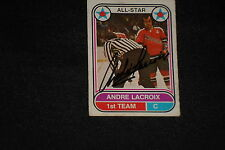 ANDRE LACROIX 1975-76 O-PEE-CHEE WHA AS SIGNED AUTOGRAPHED CARD #64 MARINERS