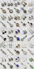 WHOLESALE ! STERLING SILVER EARRINGS PENDANT 25 SETS!