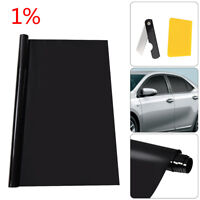 PRO LIMO BLACK 1% CAR WINDOW TINT ROLL 2x3m x 76 cm FILM TINTING UK