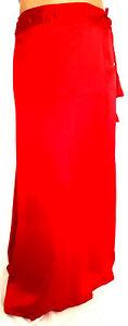 Saree Indian Bollywood Satin Stitched Sari Petticoat Underskirt Lining Straight