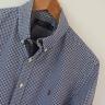 Mens Polo Ralph Lauren Blue White Gingham Long Sleeve Shirt Size M Medium