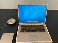 Apple PowerBook G4 Titanium 500MHz, 512MB Ram, 40GB HDD, OS 10.4 / 9 WORKING