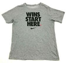 Nike Chemise Jeunesse Taille XL Gris Sec Fit T-Shirt Wins Début