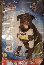Cute Batman Dog Costume Pet Superhero Halloween Fancy Dress Fake legs M