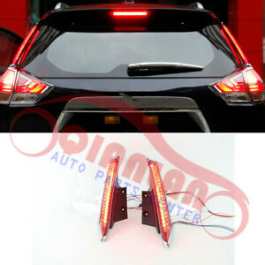 Refit Trunk Pillar Lights LED 1PAIR For Nissan X-TRAIL 2014-2019