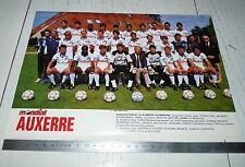 CLIPPING POSTER FOOTBALL 1988-1989 AJ AUXERRE AJA ABBE-DESCHAMPS