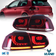 LED Sequential Tail Lights For 2008-2013 Volkswagen Golf 6 MK6 GTI R Rear Lamps