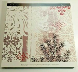 2000s SEI 12x12 Cardstock Paper Pad Alpine Frost 46 Pages Winter/Holidays