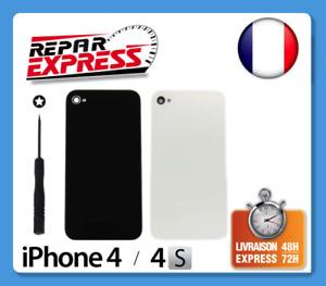 VITRE ARRIERE FACADE EN VERRE AVEC TOURNEVIS TORX POUR IPHONE 4 OU 4S NOIR BLANC