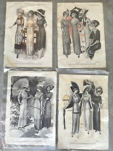 THE DELINEATOR 1911 Fashion High Society Advertisement Ads Hand Drawn Art