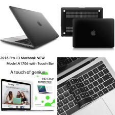 "3-IN-1 For MacBook Pro 13"" (A1706) Slim Hard Case+ Keyboard Cover+ Film (Black)"
