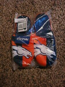 NFL forever collectible Slide Slippers Denver Broncos NEW