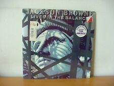 "JACKSON BROWNE ""Lives In The Balance"" Original SEALED LP from 1986 (ASYLUM 60457"