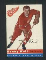 1954-55 Topps #9 Benny Woit VGEX Red Wings 108277