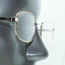 Gold Metal Wire Frame Squared Oval Classic Simple Reading Glasses +1.00 Lens