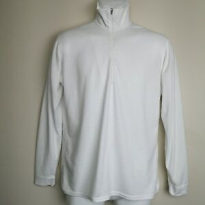 Patagonia Capilene Size S White Half Zip Thermal Base Layer Made in USA