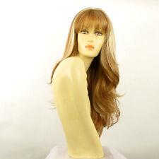 Perruque femme longue blond foncé méché blond clair VIRGINIE F27613