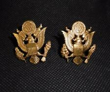 Genuine Pair US United States Army Officers Small Cap/Collar Badges