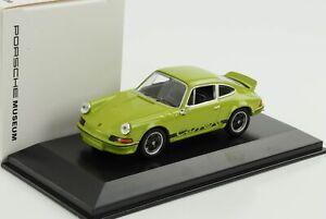 Porsche 911 Carrera Rs 2.7 1973 Jade Green Black Font 1:43 Welly Museum