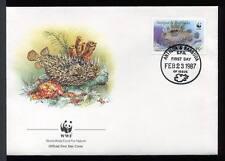 26342) ANTIGUA & BARBUDA 1987  WWF FDC Fishes - Pesci